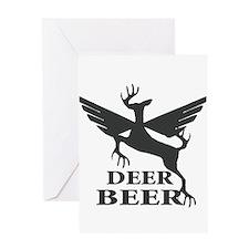 Deer beer Greeting Card