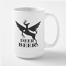 Deer beer Large Mug