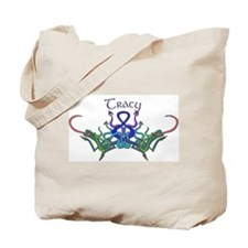 Tracy's Celtic Dragons Name Tote Bag