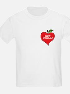 Heart Apple I Love 10th Grade T-Shirt
