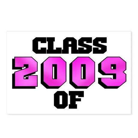 Class of 2009 Pink Logo Postcards (Package of 8)