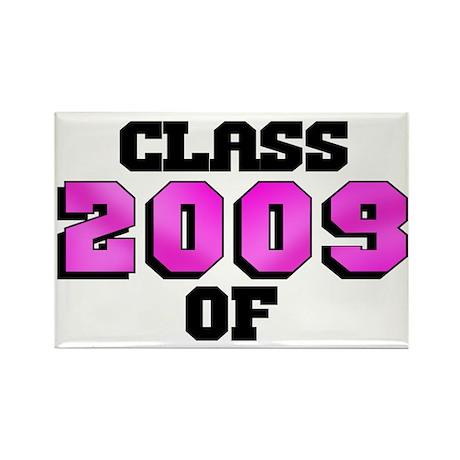 Class of 2009 Pink Logo Rectangle Magnet