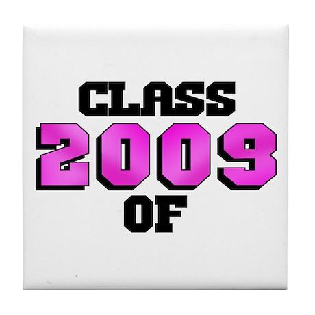 Class of 2009 Pink Logo Tile Coaster
