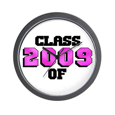 Class of 2009 Pink Logo Wall Clock