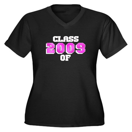 Class of 2009 Pink Logo Women's Plus Size V-Neck D