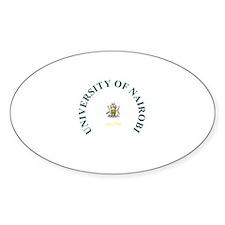 UON Circular Oval Sticker (10 pk)
