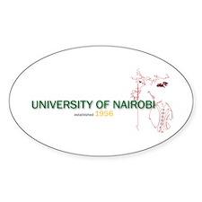 UON Warrior Oval Sticker (10 pk)