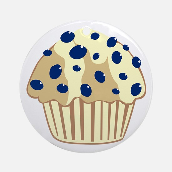 Blueberry Muffin Ornament (Round)