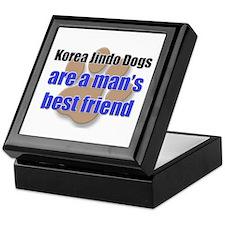 Korea Jindo Dogs man's best friend Keepsake Box