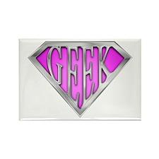 SuperGeek(Pink) Rectangle Magnet