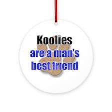 Koolies man's best friend Ornament (Round)