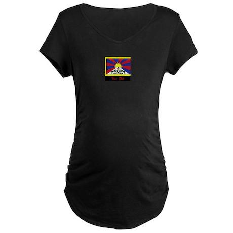 Free Tibet Maternity Dark T-Shirt