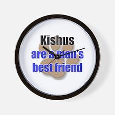 Kishus man's best friend Wall Clock