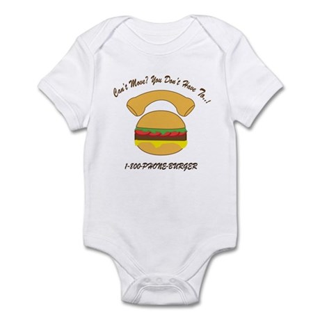 PHONE BURGER Infant Bodysuit
