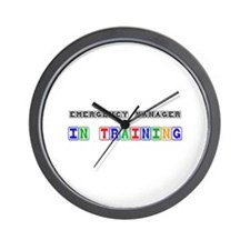 Emergency Manager In Training Wall Clock