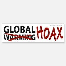 Global Warming Hoax Bumper Car Car Sticker