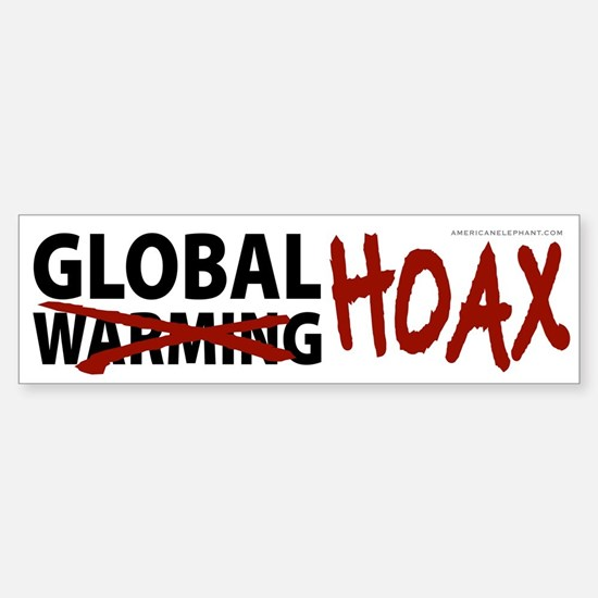 Global Warming Hoax Bumper Car Car Sticker