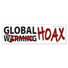 Global Warming Hoax Bumper Car Sticker