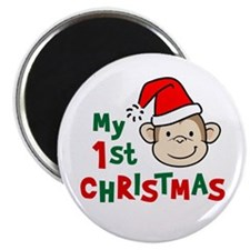 My First Christmas - Monkey Magnet