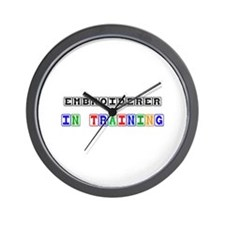 Embroiderer In Training Wall Clock