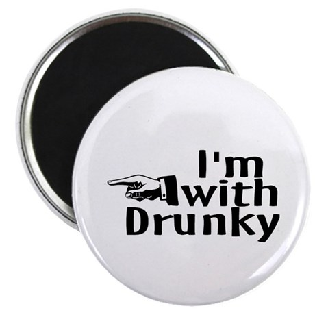 """Drinks Well With Others 2.25"""" Magnet (100 pack)"""