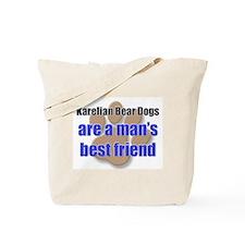 Karelian Bear Dogs man's best friend Tote Bag