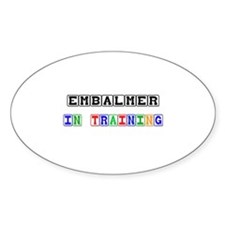 Embalmer In Training Oval Decal