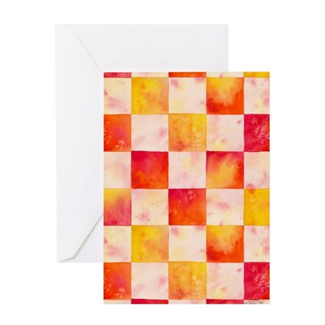 Checkerboard Watercolor Greeting Card