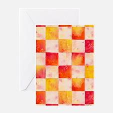 Checkerboard Watercolor Greeting Card