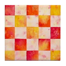Checkerboard Watercolor Tile Coaster