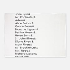 Jane Eyre Names 5'x7'Area Rug