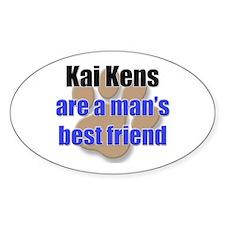 Kai Kens man's best friend Oval Decal