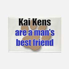 Kai Kens man's best friend Rectangle Magnet (10 pa