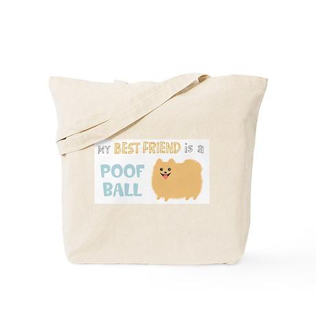 Pomeranian Poof Ball Tote Bag