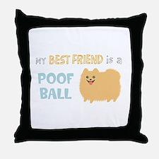 Pomeranian Poof Ball Throw Pillow