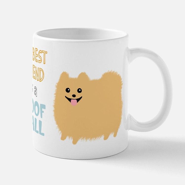 Pomeranian Poof Ball Mug