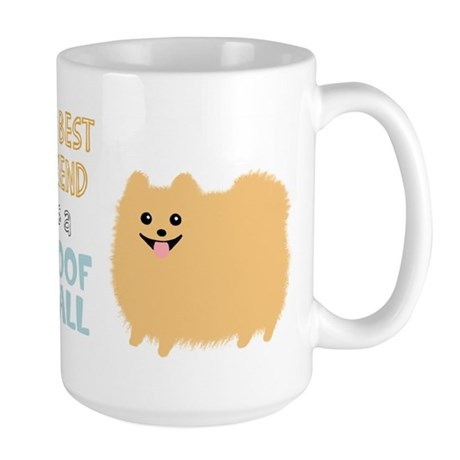Pomeranian Poof Ball Large Mug