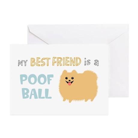 Pomeranian Poof Ball Greeting Cards (Pk of 10)