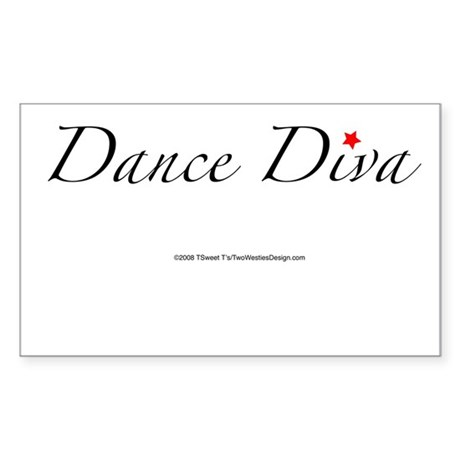 Dance Diva Rectangle Sticker