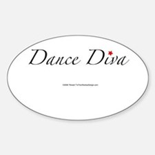 Dance Diva Oval Decal