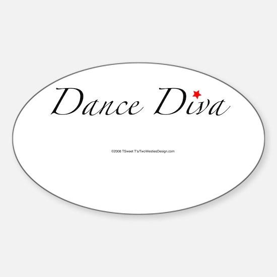 Dance Diva Oval Decal