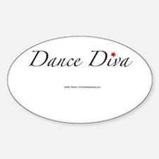 Dance Diva Oval Stickers