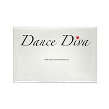 Dance Diva Rectangle Magnet