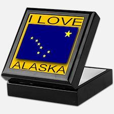 I Love Alaska Keepsake Box