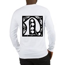 Art Nouveau Initial N Long Sleeve T-Shirt