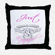 Cute Engaged Throw Pillow