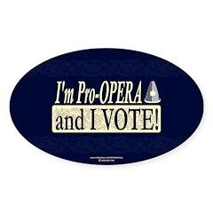 I'm Pro Opera Oval Sticker (10 pk)