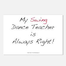 My Swing Dance Teacher Postcards (Package of 8)