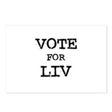 Vote for Liv Postcards (Package of 8)