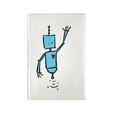 Blue Robot Rectangle Magnet